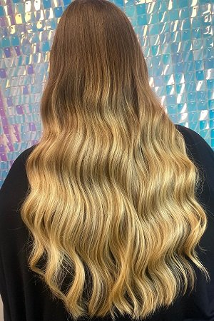 Balayage hair colour at Dudleys hairdressers in Bulwell Nottingham