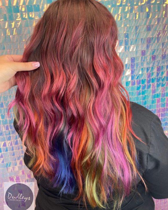 hair colour transformation in Bulwell at Dudleys hair salon
